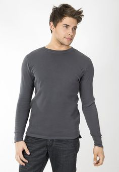 """Men's thermal cuffed long sleeve. 30's 100% Cotton combed ring spun pre-shrunk reactive garment dyed and enzyme washed for softness. Use Promo Code """" JSFRIENDS """" during purchase and get 20% off. www.jsapparel.net All JS Apparel garments made in USA."""