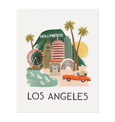 Los Angeles Illustrated Art Print - Rifle Paper Co   Gallery Wall  #LPChristmas14
