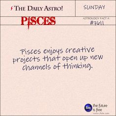 Pisces Visit The Daily Astro for more Pisces facts. There's an amazing resource of top-tier pisces zodiac content at iFate… Pisces Daily, Daily Astrology, Pisces Love, Astrology And Horoscopes, Virgo Horoscope, Pisces Girl, Pisces Zodiac, Zodiac Cancer, Scorpio