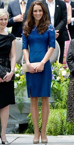 Kate's blue lace Erdem dress - love the lace detail!