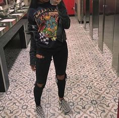 Tomboy Outfits, Indie Outfits, Teen Fashion Outfits, Casual Winter Outfits, Teenager Outfits, Retro Outfits, Casual Summer, Cute Edgy Outfits, Womens Fashion