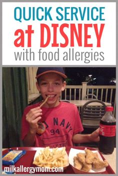 How to do quick service at Disney World with anaphylactic food allergies. We are milk-free and nut-free.