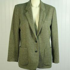 Viyella Limited Ed Pure New Wool Tweed Jacket Blazer Womens 12 Made in England #Viyella #Blazer