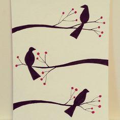 """Leah Piken Kolidas """"Winter Birds"""""""