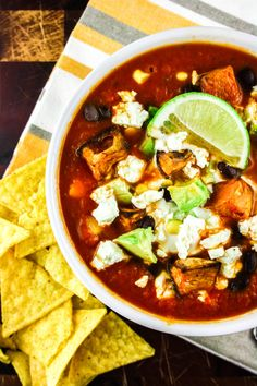 Vegetarian Loaded Taquito Soup