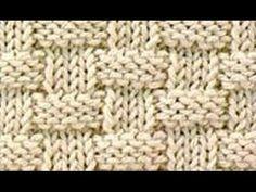 Strickmuster * KORBMUSTER * - YouTube