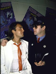 Songwriters Bernie Taupin and Elton John Premium Photographic Print at AllPosters.com