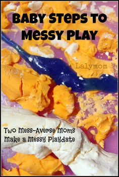 I got together with another crafty mom and we had a messy playdate with the kids. Having messy fun for the kids is a super grand time! Check out these awesome messy play ideas that you can try with your kids. Creative Activities, Sensory Activities, Craft Activities For Kids, Sensory Play, Infant Activities, Learning Activities, Sensory Bins, Indoor Activities, Summer Activities