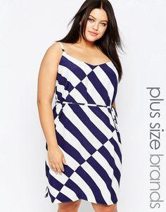 New+Look+Plus+Stripe+Cami+Slip+Dress