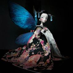 """""""Madame Butterfly"""", by Julien Martinez (after illustration by Benjamin Lacombe, in """"Les Amants Papillons"""", 2007)."""