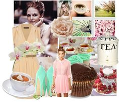 """Tea time"" by ashley-lively ❤ liked on Polyvore"