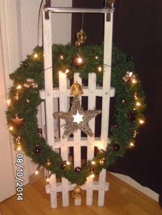 vintage weihnachtsdeko schlitten shabbychic weihnachten im shop schoengemachtes. Black Bedroom Furniture Sets. Home Design Ideas