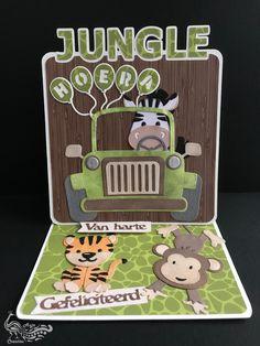 6 tiger card topper MarianneDesign paper die cuts jungle animals kids safari