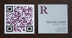 Here are some examples of the best looking QR code business card designs. Use these QR code business cards for ideas on your next design. Qr Code Business Card, Square Business Cards, Cool Business Cards, Creative Business, Business Ideas, Web Design, Graphic Design Tips, Brand Design, Graphic Designers