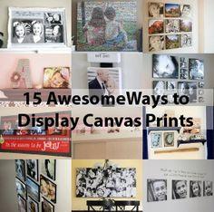 15 ways to display canvas photos