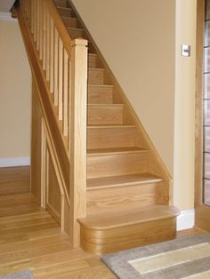 Image result for oak staircase House Stairs, House Plans, Loft, Railings, Staircases, Building, Basement, Image, Homes