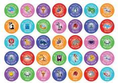 Growth Mindset Cute Brains - Round 30mm - TeacherStickers Australia Teacher Stickers, Public Service Announcement, Laser Printer, Growth Mindset, Overlays, Stamping, Australia, Colours, School