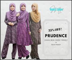 PRUDENCE Special Offer 35% OFF FOR CASUAL WEAR  - High Quality Lycra -  Ironless - Wudhu' Friendly - Limited Size  Get Freebies (Tudung Charming) & Free Shipping for Purchases Above RM350  Grab now before out of stock !!  Online Order : Website: www.modestculture.com (fast respond)  whatsapp: www.wasap.my/60143370263   #solatready #modestculture #wudhufriendly #top