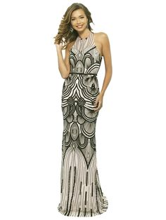 627123d1f74 1920s Sequin Backless Formal Dress – Retro Stage - Chic Vintage Dresses and  Accessories 1920s Formal