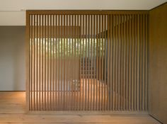 Barrancas House is a residence in Mexico City that was fully restored by EZEQUIELFARCA Architecture & Design into a stunning modern home. Home Design, Architecture Design, Contemporary Architecture, 1970s House, Timber Screens, Living Room Divider, Wooden Screen, Slat Wall, Wooden Slats