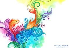 """colorpassion-art: """" Fish by Angela-T """""""