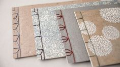 Learn four different stitches for this historical Japanese bookbinding structure: Four-hole, Noble, Hemp Leaf and Tortoise Shell. Single sheets are stacked and bound to create this simple and elegant binding. These are great books to use for sketchbooks, journals, photo albums and artists'...