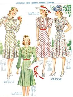 1940s fashion for Spring/Summer
