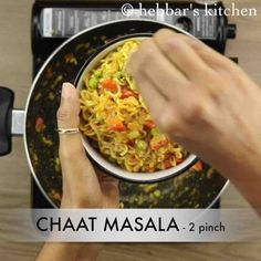 maggi noodles recipe, maggi masala noodles, maggi recipes with step by step photo/video. street style 2 minute maggi noodles for breakfast and evening snack Gourmet Recipes, Healthy Recipes, Fast Recipes, Maggi Masala, Maggi Recipes, Chaat Masala, Evening Snacks, Spinach Stuffed Mushrooms, Noodle Recipes