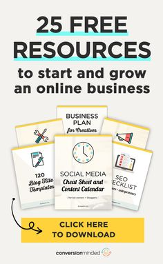 Ready to market your business but unsure how to do it? My Free Resources Bundle will help! It includes everything you need to start and grow your business: SEO Checklist, Social Media Strategy, Marketing Guide, Blog Post Checklist, Social Media Cheat Sheet, Brand Style Guide Workbook, Niche Workbook, Business Plan Template, Font Inspiration Kit, Customer Avatar Worksheet, and more. Click through to download the FREE Resources now! #ConversionMinded Social Media Marketing Business, Content Marketing Strategy, Business Entrepreneur, Business Tips, Online Business, Social Media Cheat Sheet, Increase Productivity, Business Management, Blogging For Beginners