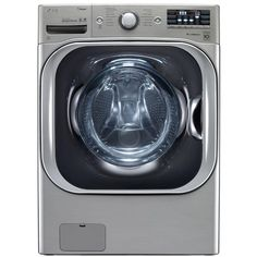 White With Steam Cycle Electric Washer/Dryer Combo - Dryers Product Features 14 Wash Cycles Steam Technology RPM Spin Speed Ventless Condensing Drying Dryers Product Description Cu. White With Steam Cycle Electric Washer/Dryer Combo Lg Washer And Dryer, Stainless Steel Drum, Laundry Appliances, White Appliances, House Appliances, Lg Electronics, Front Load Washer, Laundry Room Storage, Laundry Closet