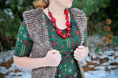 Two-many: Make a Faux Fur Vest and line it!