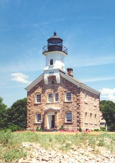 The Sheffield Island Lighthouse, Conn. USA was built in 1886.