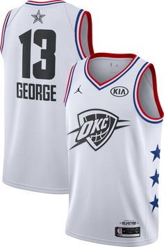 dee346503 Jordan Men s 2019 NBA All-Star Game Paul George White Dri-FIT Swingman  Jersey