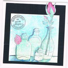 Willy Kamphuis zelfgemaakte kaarten: zomaar een bloemetje