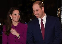 On February 7, 2017, Prince William, Duke of Cambridge and his wife, Catherine, Duchess of Cambridge attended Guild of Health Writers conference in London, this year focusing on mental health, and supported by the Heads Together campaign. The Duchess wore Oscar de la Renta Skirt Suit from Fall 2015 Collection.