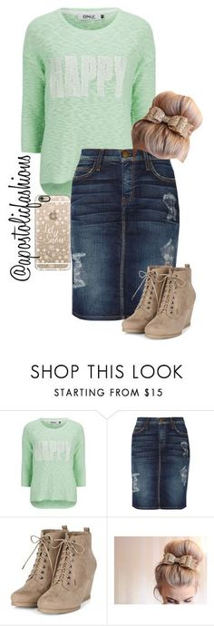 """Apostolic Fashions #955"" by apostolicfashions on Polyvore featuring ONLY, Current/Elliott and Casetify"