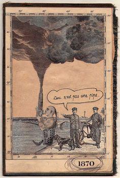 La inspiracion de Magritte 3, 1870. | por federico hurtado 2011