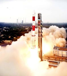 PSLV-C36 carrying remote sensing satellite RESOURCESAT-2A successfully lifts-off from the Satish Dhawan Space Centre in Sriharikota .(UNI)