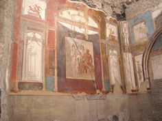 "MYTHOLOGY - ""Collegium Augustalium"", devoted to Hercules, at Herculaneum - ""Hercules, Athene and Juno"" | Flickr - Photo Sharing!"