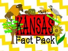 Kansas State Fact and Symbol Pack {Kansas Day} Social Studies Resources, Teacher Resources, Kansas Day, Study Board, School Fun, School Ideas, Thematic Units, Cute Clipart, Creative Teaching