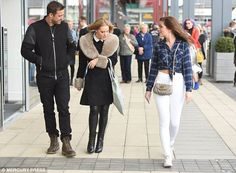 Happy days: Strolling through Broughton Park shopping complex, Nikki's cute dimples were visible as she smiled Hollyoaks, White Skinny Jeans, Her Smile, Shopping Spree, Dimples, Super Skinny, Jeans Style, Bad Boys, Fashion Inspiration