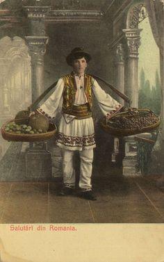Obstverkäufer, Rumänien, Postkarte, ca. 1900