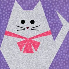 Fat Cat Paper Pieced Quilt Block