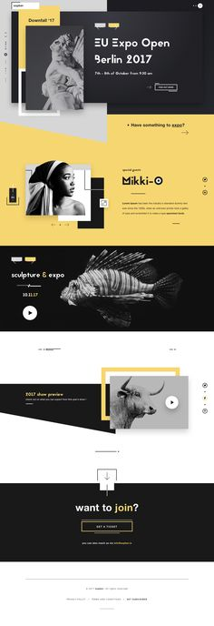 Expber art expo gallery website ui ux design dribbble full