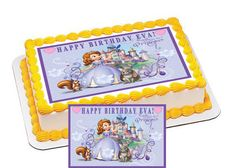 Sofia the First Edible Cake & Cupcake by CakeTopperSpecialist