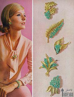 ANGELA HOWARD,  Vogue - March 1963 Trifari Ad