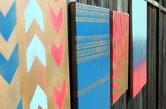 Home is Where the Art Is: 4 Simple Ways to Make Spray Paint Wall Art via Brit + Co.