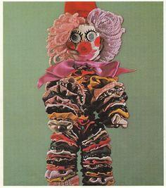 Livre  loisirs créatifs, années 70: TRESORS de fil en aiguille 1971 édition jeunes années, clown tissus