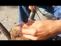 Wire Control - I just discovered Dennis Hardy's forging videos. Great stuff. This short one very effectively demonstrates how differently the metal moves when you change the angle of your hammer blows.