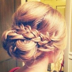 up and in a braid :)